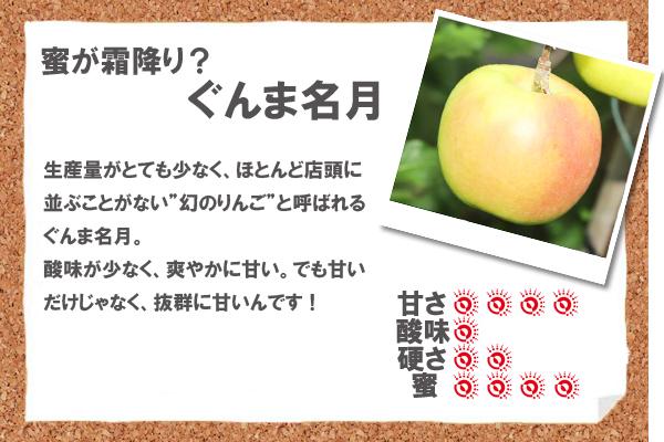 """蜜が霜降り?ぐんま名月 生産量がとても少なく、ほとんど店頭に並ぶことがない""""幻のりんご""""と呼ばれるぐんま名月。酸味が少なく、爽やかに甘い。でも甘いだけじゃなく、抜群に甘いんです!"""